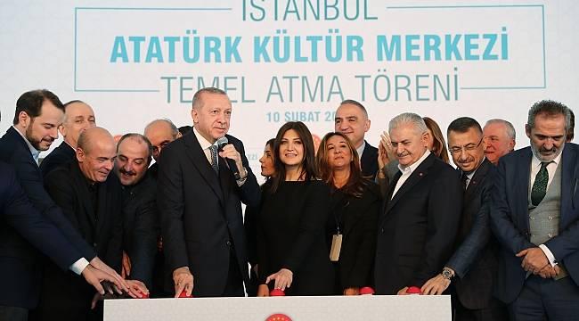 Cumhurbaşkanı Erdoğan, Atatürk Kültür Merkezi'nin Temelini Attı
