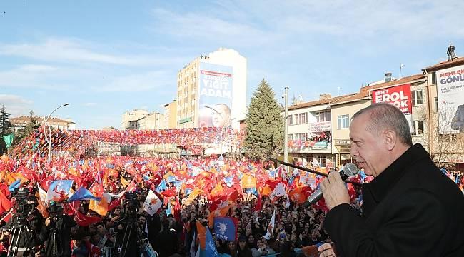 Erdoğan: Tarihi zafer istiyoruz