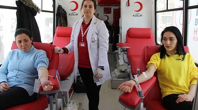 Havzalılardan 135 ünite kan bağışı