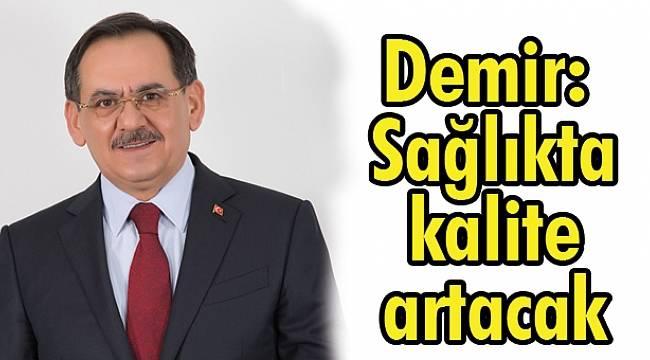 Mustafa Demir, hastane personeli ile buluştu