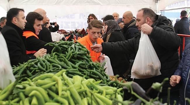 Samsun'da tanzim noktalarına 333 ton ürün sevk edildi