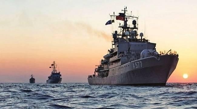 TCG ORUÇREİS askeri gemi Samsun'da