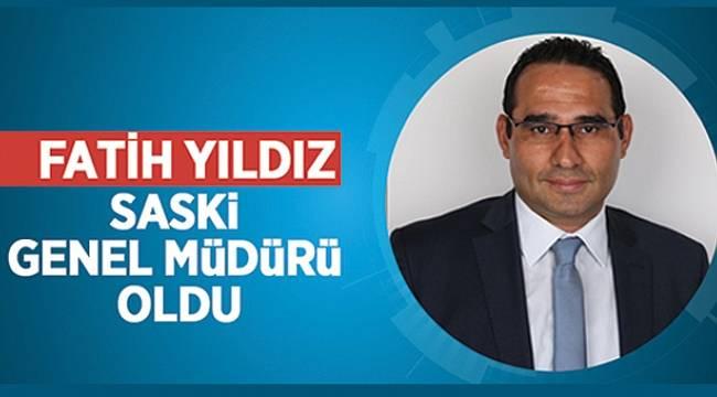 Fatih Yıldız, SASKİ Genel Müdürü oldu