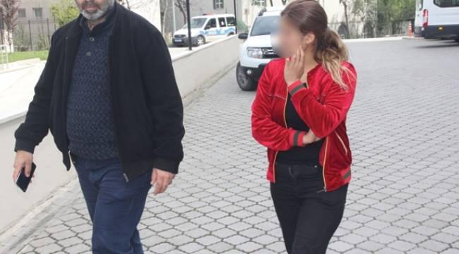 Samsun'da suç makinesi kadın yakalandı