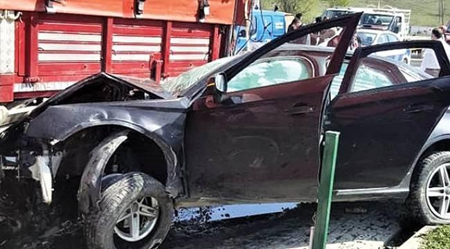 Samsun'da trafik kazası: 1 ölü, 1 yaralı