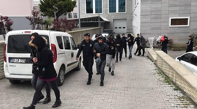 Samsun'da uyuşturucu operasyonu: 13 gözaltı