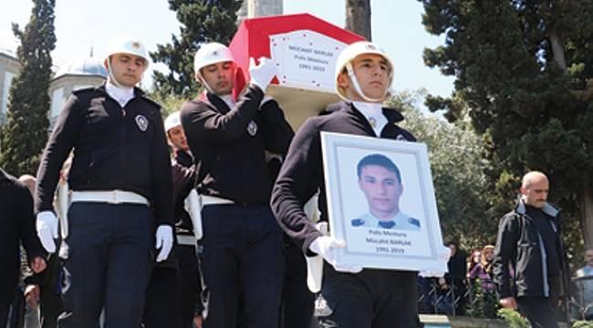 Samsunlu polisin cenazesi toprağa verildi