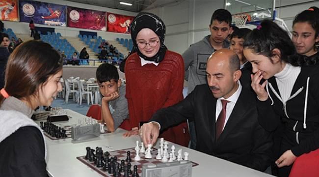 Terme'de satranç turnuvası heyecanı