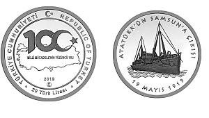 100. yıla özel gümüş para piyasaya sürüldü