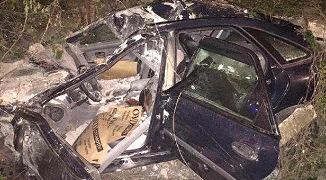Metruk binaya çarpan otomobilin sürücüsünden acı haber