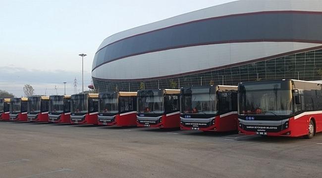 Samsun'da otobüslerde maksimum performans