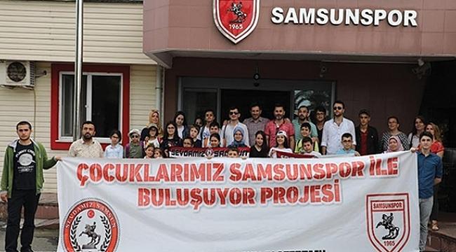 Öğrenciler Samsunspor tesislerini gezdi