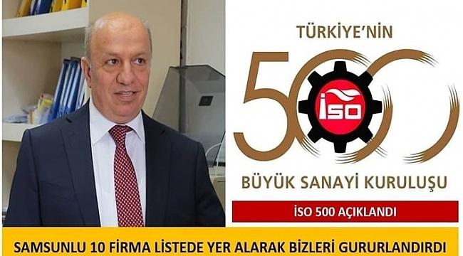 Başkan Çakır ikinci 500'e giren Samsunlu firmaları kutladı!
