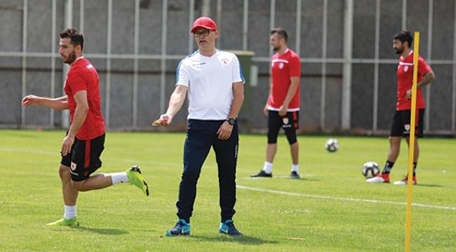 Samsunspor'da sezonun ilk idmanı gerçekleşti