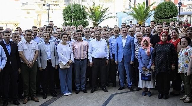 Samsun Büyükşehir'de bayramlaşma sevinci