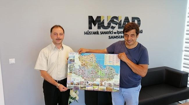 Samsun İl Kültür ve Turizm Müdürlüğü'ndenSamsun'a turistlik harita