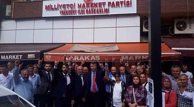 MHP Tekkeköy İlçe Başkanı'nı atadı