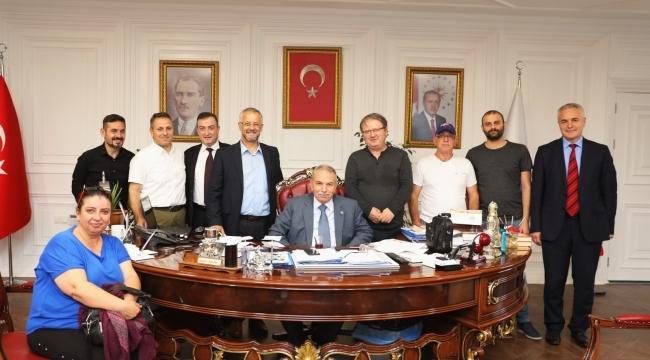 Samsun 19 Mayıs Gazeteciler Cemiyeti'nden BaşkanDemirtaş'a ziyaret