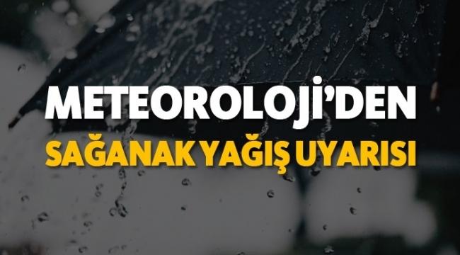 Samsun'a sağanak yağış geliyor