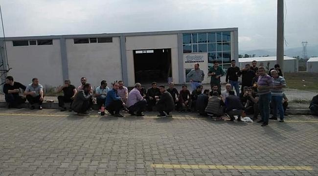 Samsun'da işçiler sendikaya üye oldu diye fabrika kapatıldı iddiası