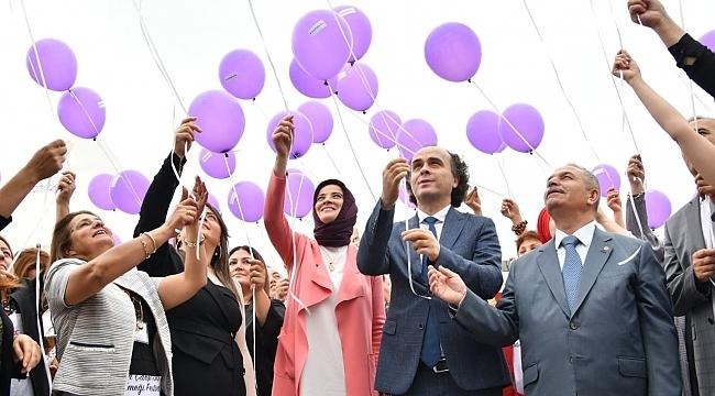 Samsunlu erkekler kadın festivalinde farkındalık yarattı