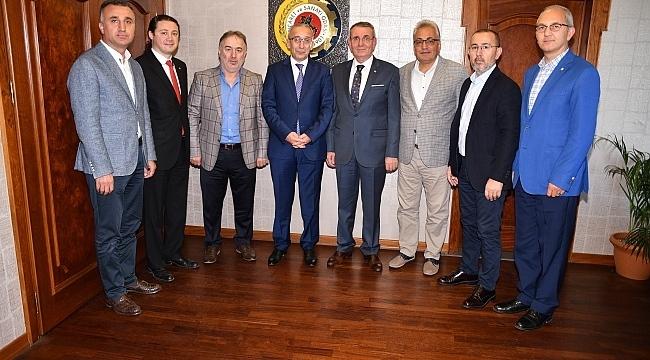 Vedat Yavuz'dan Samsun TSO'ya veda ziyareti