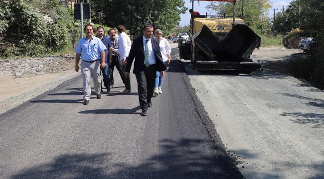 Çarşamba Belediyesi yol çalışmalarına ara vermiyor