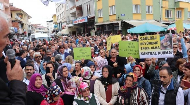 Dikbıyık'ta Büyük Santral Protestosu
