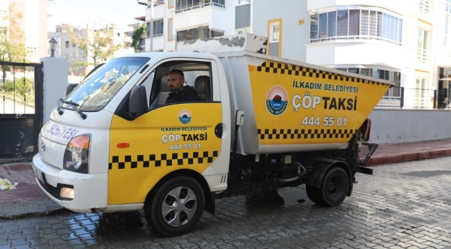 İlkadım'da 'Alo Çöp Taksi' hizmete girdi