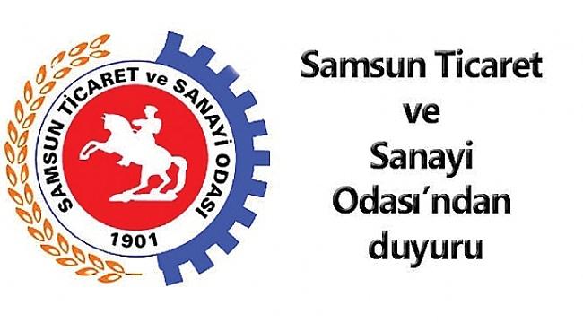 Samsun TSO'dan üyelere çağrı