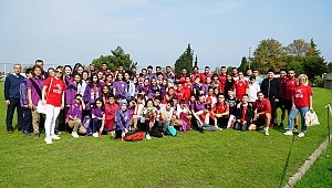 Samsunspor'a öğrencilerden destek