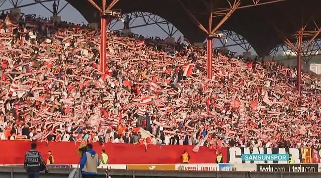 Samsunspor'un liderlik maçına taraftardan yoğun ilgi