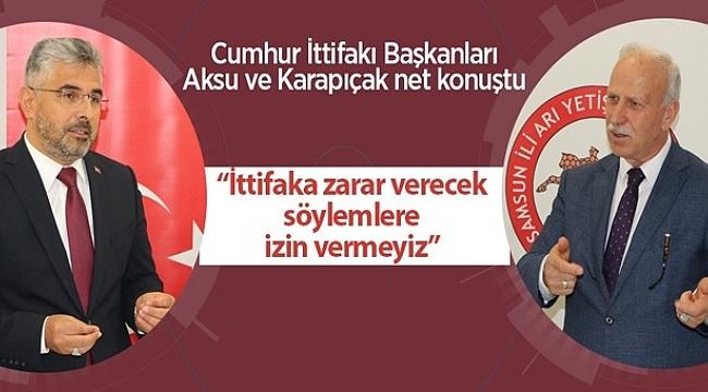 Samsun Haber - Cumhur İttifakı Başkanları Aksu ve Karapıçak net konuştu