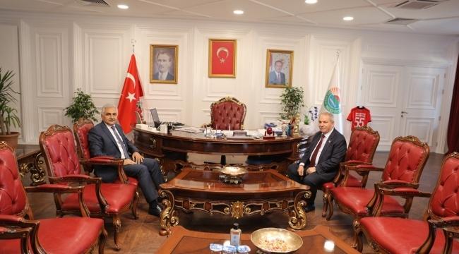 Samsun Haber - Emniyet Müdürü Urhal Başkan Demirtaş'ı ziyaret etti