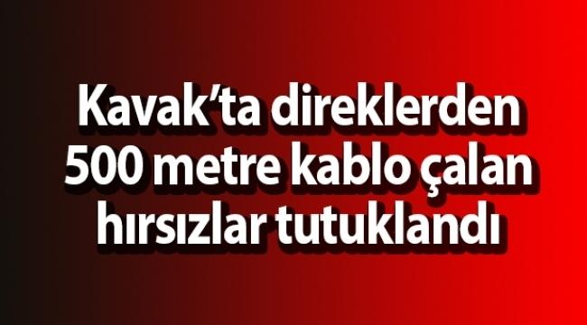 Samsun Haber - Kablo hırsızları tutuklandı
