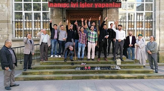 Samsun Haber- TÜGVA'lı gençlerden İsrail'e tepki