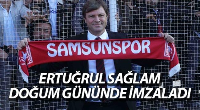 Samsunspor'da Ertuğrul Sağlam 5 yıllık sözleşme imzaladı