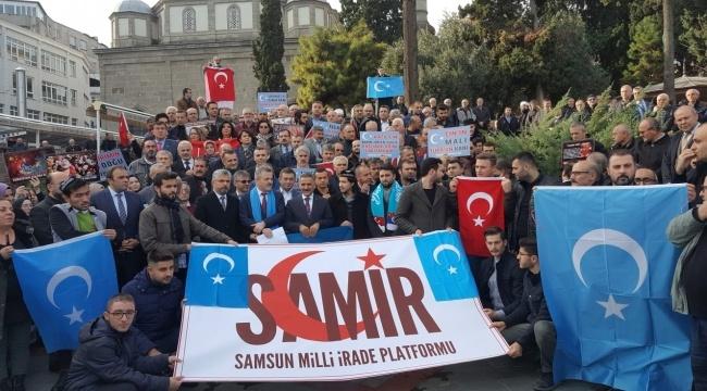 Samsun'da Doğu Türkistan eylemi