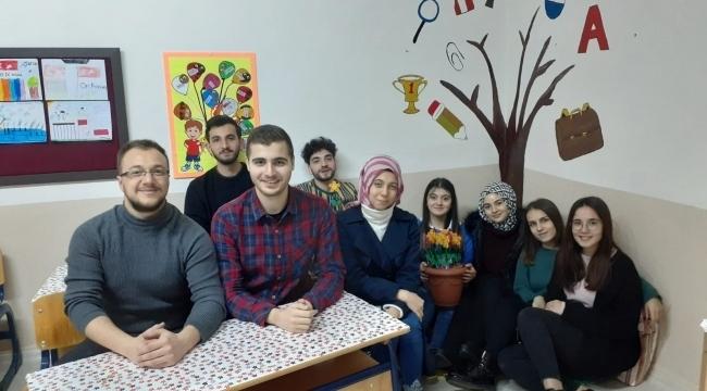 Samsun'da üniversiteli öğrenciler sınıf yeniledi