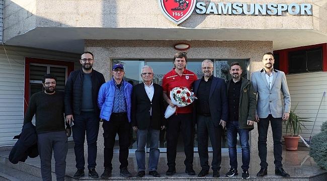 Samsun Haber - Gazetecilerden Sağlam'a ziyaret