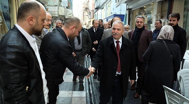Samsun Haber - Sakarya Caddesi esnafından Başkan Demirtaş'a teşekkür