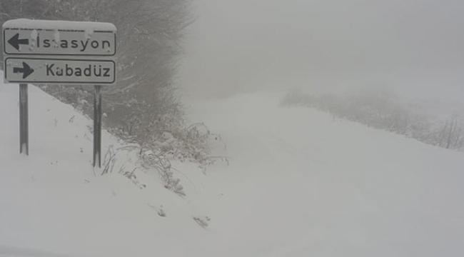 Samsun Haber - Samsun'da kar yolları kapattı