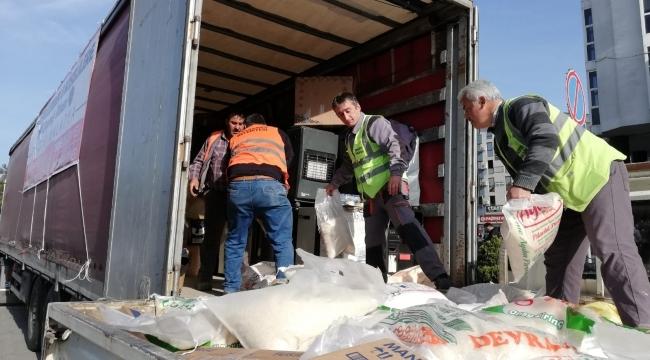 '8 köşelilerden' depremzedelere yardım