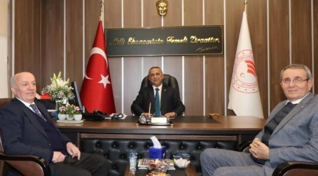 Başkan Çakır ve Murzioğlu'dan Tarım Müdürü'ne ziyaret
