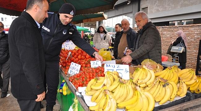 Terme'de pazarlara sıkı denetim