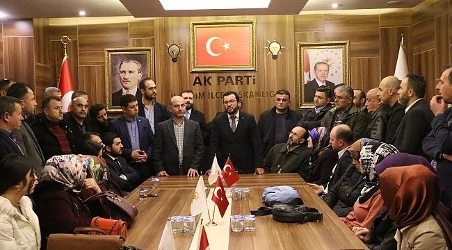 Başkan Erbin, partililerle buluştu