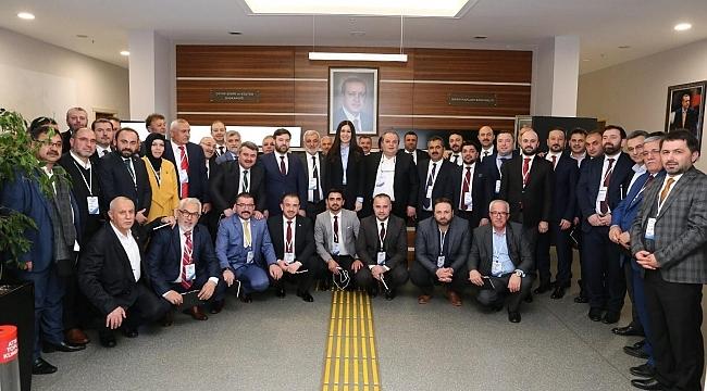 Karaaslan Samsun ilçe başkanlarıyla buluştu