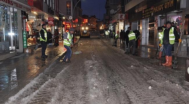 Terme Belediyesi'ne karla mücadelede tam not