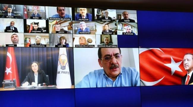 AK Parti Samsun'dan video konferans toplantısı
