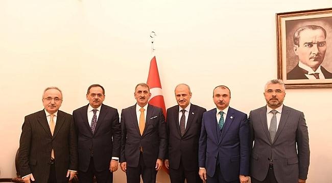 Bakan Turhan Samsun heyetini ağırladı